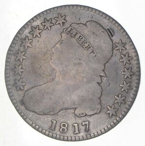 1817 CAPPED BUST HALF DOLLAR   O 103   PUNCTUATED DATE  6306