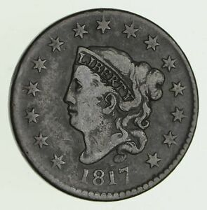 1817 MATRON HEAD LARGE CENT   CIRCULATED  4210