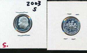 ROOSEVELT SILVER DIME   2003 S CAMEO GEM PROOF   BETTER DATE