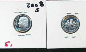 ROOSEVELT SILVER DIME   2008 S CAMEO GEM PROOF   BETTER DATE