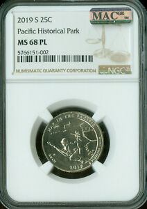 Click now to see the BUY IT NOW Price! 2019 S PACIFIC PARK QUARTER NGC MAC MS68 PL PQ SOLO FINEST 10 X R THAN W