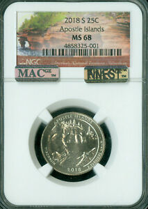 Click now to see the BUY IT NOW Price! 2018 S APOSTLE QUARTER NGC MAC MS 68 PQ FINEST POP 3 MAC SPOTLESS