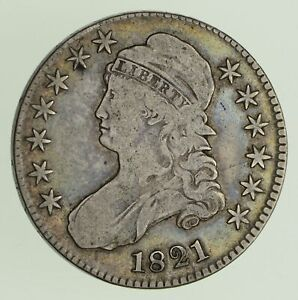 1821 CAPPED BUST HALF DOLLAR   CIRCULATED  0441