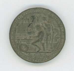 1876 MEDAL: ART TREASURES & INDUSTRIAL EXHIBITION OF NORTH WALES ARTISTS AT WORK