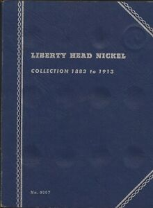 1883 1913 LIBERTY V NICKEL WHITMAN BOOK 9007 16 TOTAL COINS INCLUDED NICE