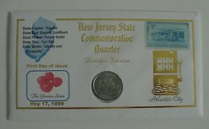 1999 NEW JERSEY STATE COMMEMORATIVE QUARTER LIMITED EDITION CACHET