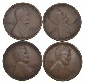 LOT  4  1914 D LINCOLN WHEAT CENTS  4437
