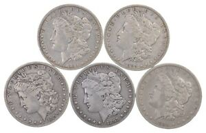 LOT  5  1895 O MORGAN SILVER DOLLARS   KEY DATE  2253