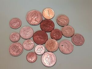 ENGLAND UK LOT OF 19 COINS DATED 1962   1996