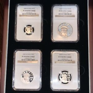 Click now to see the BUY IT NOW Price! SET OF 4 2008 W AMERICAN PLATINUM EAGLE NGC PF70 ULTRACAMEO PROOF  KEY DATE