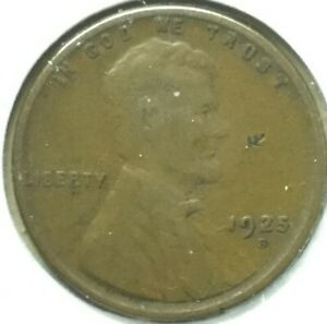 1925 S LINCOLN WHEAT CENT PENNY