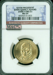 Click now to see the BUY IT NOW Price! 2008 P JOHN QUINCY ADAMS PRES DOLLAR NGC MAC MS69 SMS PQ FINEST POP 6 SPOTLESS