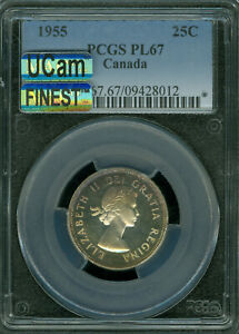 Click now to see the BUY IT NOW Price! 1955 CANADA 25 CENTS PCGS MAC PL67 MAC UCAM MAC FINEST GRADED
