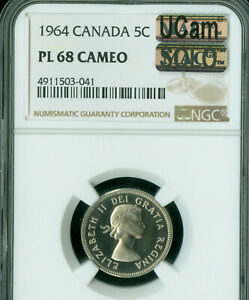 Click now to see the BUY IT NOW Price! 1964 CANADA 5 CENTS NGC PL68 CAMEO UCAM MAC SOLO FINEST SPOTLESS 1 IN 10 000