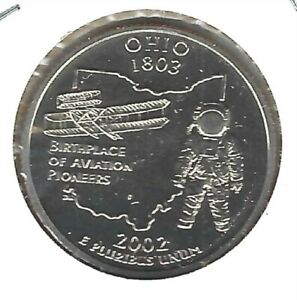 2002 S SAN FRANCISCO CLAD PROOF OHIO 17TH STATE QUARTER COIN