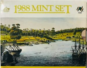 Click now to see the BUY IT NOW Price! AUSTRALIA   8 COIN MINT SET 1988   PERTH MINT ORIGINAL GOVERNMENT PACKAGING