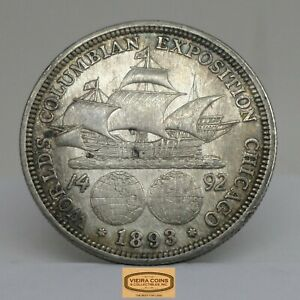 1893 WORLD'S COLUMBIAN EXPOSITION SILVER 50 CENTS STOCK PHOTO   A16444