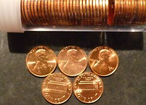 1981 D LINCOLN CENT PENNY CHOICE/GEM BU ROLL UNCIRCULATED