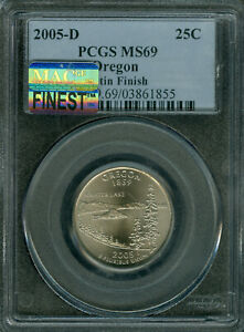 Click now to see the BUY IT NOW Price! 2005 D OREGON QUARTER PCGS MS69 SF MAC FINEST REGISTRY MAC SPOTLESS