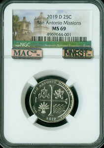 Click now to see the BUY IT NOW Price! 2019 D SAN ANTONIO QUARTER NGC MS 69 PQ MAC FINEST GRADE POP 2 SPOTLESS
