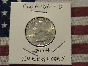 2014 D FLORIDA STATE QUARTER DOLLAR CU/NI CLAD 6 YEARS OLD   EVERGLADES  LOOK