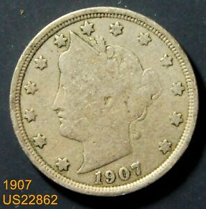 1907 CIRCULATED LIBERTY V NICKEL  IN UNITED STATES