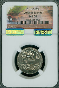 Click now to see the BUY IT NOW Price! 2018 S APOSTLE ISLAND QUARTER NGC MS 68 PQ MAC FINEST POP 3 MAC SPOTLESS