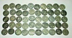 ROLL OF 40 CANADA NICKELS 5 CENT COINS  KING GEORGE VI ELIZABETH  T84