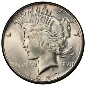 Click now to see the BUY IT NOW Price! 1927 S $1 PEACE DOLLAR PCGS MS65   CAC