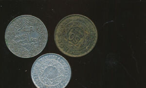 MORROCO LOT OF 3 COINS