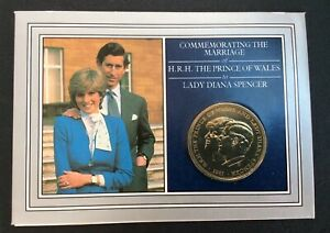 1981 UK COIN COMMEMORATING THE MARRIAGE OF PRINCE CHARLES AND LADY DIANA SPENCER