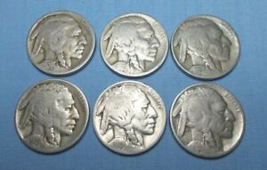 1924 1925 1926 1927 1928 1929 INDIAN HEAD/BUFFALO NICKELS UNITED STATES