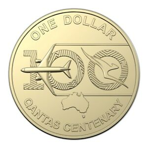 2020 QANTAS CENTENARY $1 UNCIRCULATED COIN