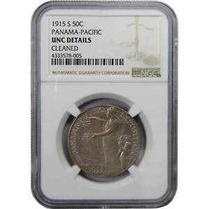 Click now to see the BUY IT NOW Price! 1915 S 50C PANAMA PACIFIC COMMEMORATIVE SILVER HALF DOLLAR UNC DETAILS NGC