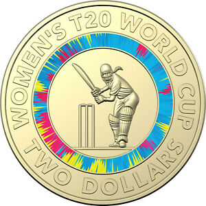 2019 ICC WOMEN'S T20 WORLD CUP CRICKET $2 COIN