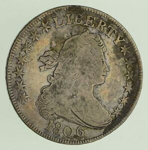 1806 DRAPED BUST HALF DOLLAR   CIRCULATED  0431