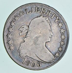 1806 DRAPED BUST HALF DOLLAR  4995