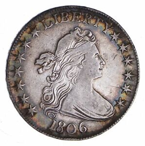 1806 DRAPED BUST HALF DOLLAR  2229