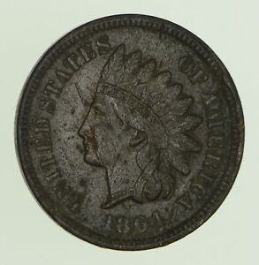 1864 INDIAN HEAD CENT   WITH L   CIRCULATED  0019