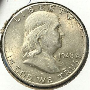 1948 D 50C FRANKLIN HALF DOLLAR  54681