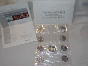 2013 CANADA UNC. SET THE WAR OF 1812 SEALED COLOR 9 COINS SPECIAL EDITION