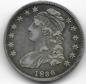 1836 CAPPED BUST HALF DOLLAR