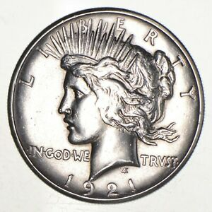 1921 PEACE SILVER DOLLAR   KEY DATE   HIGH RELIEF  8424