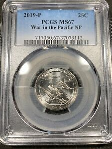 2019 P 25C WAR IN THE PACIFIC NP QUARTER PCGS MS67