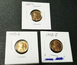 1952 PDS  LINCOLN WHEAT CENTS   HIGHER GRADES   NICE WHEAT LINES