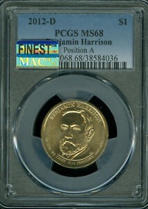 Click now to see the BUY IT NOW Price! 2012 D BENJAMIN HARRISON DOLLAR PCGS MS 68 POS A MAC FINEST MAC SPOTLESS POP 7