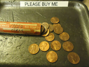 1988 D LINCOLN CENT ROLL      CIRCULATED                >> C/S & H <<