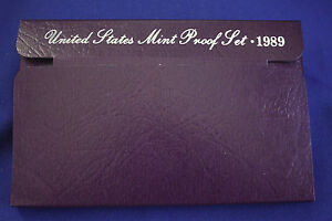 1989 S  U.S.PROOF SET. GENUINE. COMPLETE AND ORIGINAL AS ISSUED BY US MINT.