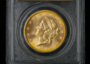 Click now to see the BUY IT NOW Price! 1857 S PCGS MS65 SPIKED SHIELD $20 GOLD S.S. CENTRAL AMERICA WITH BOOK & COA