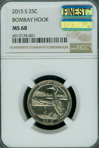 Click now to see the BUY IT NOW Price! 2015 S BOMBAY HOOK QUARTER NGC MS68 PQ MAC FINEST REGISTRY MAC SPOTLESS